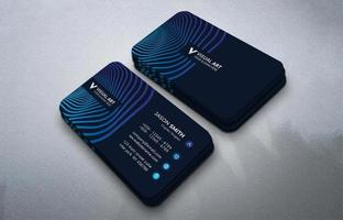 carte de visite bleue créative vecteur