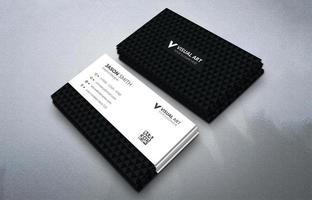 carte de visite simple noir et blanc vecteur