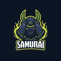 personnage de mascotte de samouraï vecteur