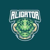 personnage de mascotte alligator vecteur