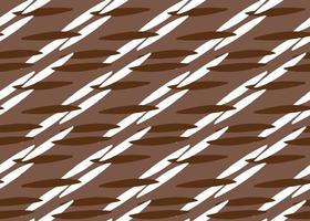 Modèle sans couture de lignes de couleur marron, blanc dessiné à la main vecteur