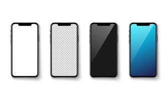 maquette d'écran d'application smartphone isolée sur baclground blanc, illustration vectorielle vecteur