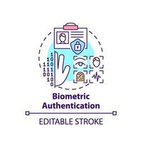 icône de concept d & # 39; authentification biométrique vecteur