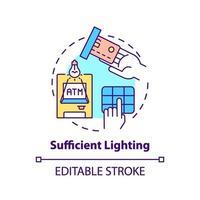 icône de concept d & # 39; éclairage suffisant vecteur