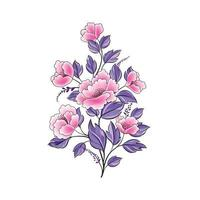 bouquet de fleurs rose isolé. fond floral. Élément de conception de carte de voeux florale printanière vecteur