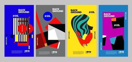 conception de mise en page de collage coloré de vecteur pour la couverture du magazine