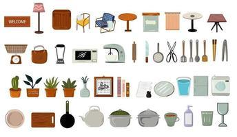 collection darticles de meubles ménagers doodle vecteur