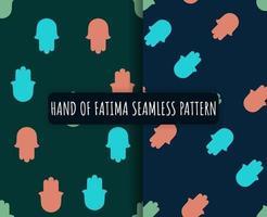 main hamsa, main de fatima - amulette patten transparente vecteur