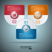 Modèle d'éléments arrondis de conception infographique