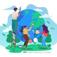 sauver la conscience de la terre vecteur