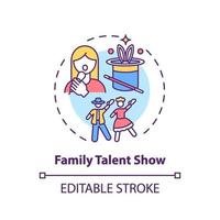 icône de concept de spectacle de talent familial vecteur