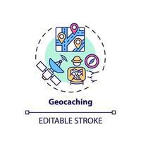 icône de concept de géocaching vecteur