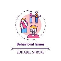 icône de concept de problèmes de comportement vecteur