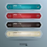 Infographie de pastilles arrondies brillantes