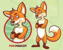 conception de mascotte de renard vecteur