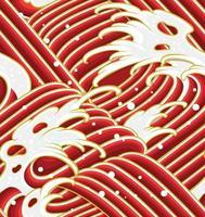 modèle sans couture de vague japonaise, pour textile, tissu, vêtement, papier d'emballage ou papier peint. vecteur