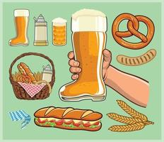 botte verre à bière cheers vecteur