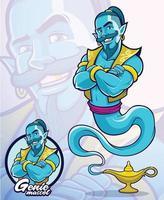 personnage de génie pour l & # 39; élément d & # 39; illustration ou la mascotte de la société vecteur