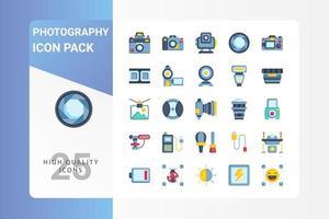 pack d'icônes de photographie pour la conception de votre site Web, logo, application, interface utilisateur vecteur