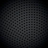 matériau texture de fond sombre en métal perforé - vecteur