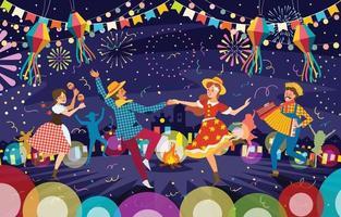 concept de festival festa junina brésil vecteur