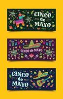 célébration des bannières de cinco de mayo