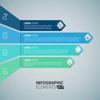 Modèles d'infographie Business Arrow vecteur