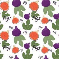 fond transparent avec des figues. fond clair avec des fruits et des feuilles de figues, vecteur. vecteur