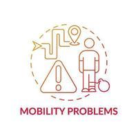 icône de concept de problèmes de mobilité