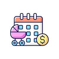 icône de couleur rvb de congé de maternité payé
