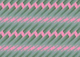 Modèle sans couture de formes de couleur verte, rose dessiné à la main vecteur