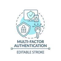 icône de concept d & # 39; authentification multifacteur vecteur