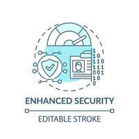 icône de concept de sécurité améliorée vecteur