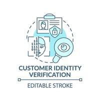 icône de concept de vérification de l'identité du client vecteur