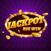 jackpot de casino vecteur