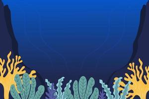 vecteur de fond de mer