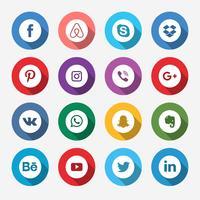 Icône colorée des médias sociaux vecteur