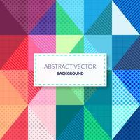 Fond coloré de triangle abstrait vecteur