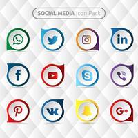 Collection de médias sociaux vecteur