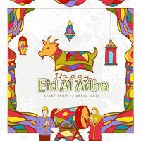 illustration de ramadan kareem dessiné à la main vecteur