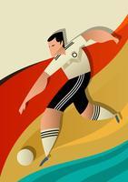 Joueurs de football Coupe du monde Allemagne en action vecteur