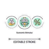 icône de concept de relance économique vecteur