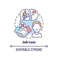 icône de concept de perte d & # 39; emploi vecteur