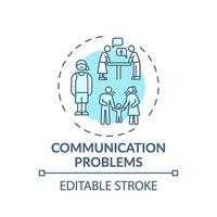 icône de concept de problèmes de communication vecteur