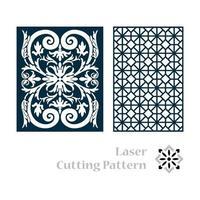 conception de motif découpé au laser vecteur