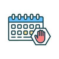 icône de couleur rgb d'annulation d'événements vecteur