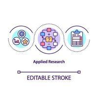 icône de concept de recherche appliquée vecteur