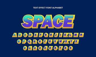alphabet de police de l & # 39; espace vecteur