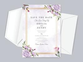invitation de mariage enregistrer le modèle de carte de date vecteur