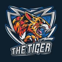 le tigre du Bengale comme logo esport vecteur